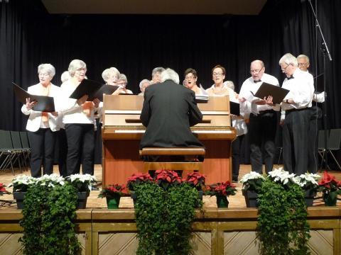Mit einem musikalischen Programm feierten 350 Mitglieder des Bürgerforums am Freitagnachmittag in der Stadthalle den Advent. (Foto: vst)