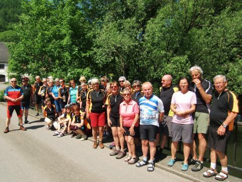 Die Radgruppe bei der Radtour von Beuron nach Heiligkreuztal